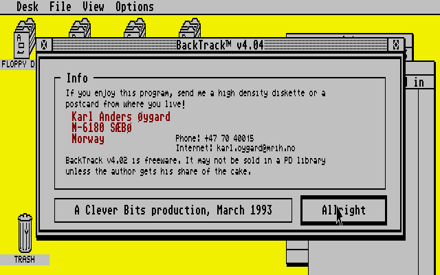 BackTrack atari screenshot